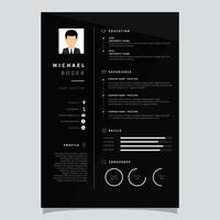 Vecteur de modèle de CV d'entreprise