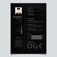 Corporate Resume Template Vector