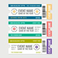 Vektor-Sport-Event-Tickets