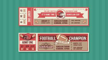 Football Champion Event Ticket Free Vector