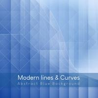 Modern Lines and Curves Abstract Blue Background