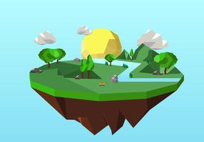 Low Poly Forest Background Illustration