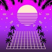 Vaporwave Background Vector