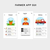 Farmer App UI Template Vectoir