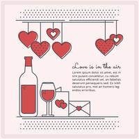 Vector Square Valentine's Day Banner