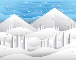 papier kunst landschap vector