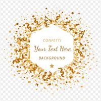 Gold Confetti Transparency Background vector
