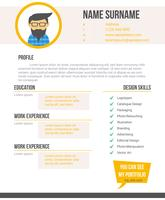 Unique Curriculum Vitae Graphic Designer Vectors