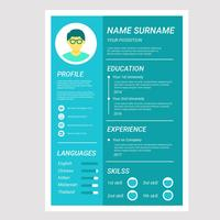 Flat Cv of Resume Company vector