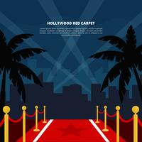 Hollywood Red Carpet Vector Illustration