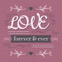 Liebe für immer und ewig Vektor