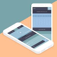 GUI de aplicaciones móviles de Vector