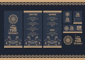 Thai Menu Template Vecteur Vol 2