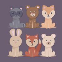 Vektor süße Tiere Sammlung