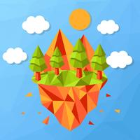 Vector de bosque Low Poly