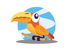 Gullig papegojavektor