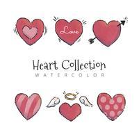 Collection de coeurs mignons à la Saint-Valentin
