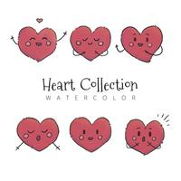 Cute Heart Character Collection To Valentine's Day