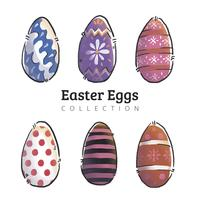 Cute Easter Eggs Set Collection