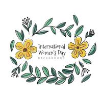 Cute Floral Ornaments With Yellow Flowers vector