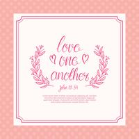 Free Love One Another Lettering Typography