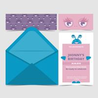 Vector Kids Party Invitation