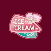 Cute Ice Cream Shop Logo