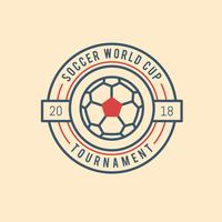 Vintage Soccer World Cup vector