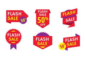 Flash Price Splash Free Vector