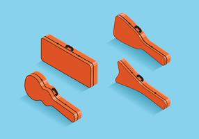 Guitar Case Isometric Style Vector