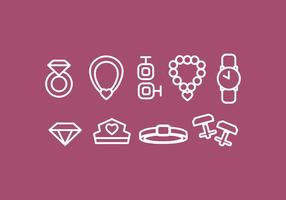 Vektor Jewerly Icon Set