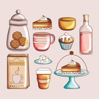 Vector Cute Set of Food