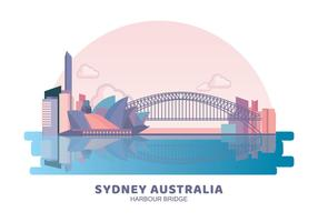 Sydney Australia Harbour Bridge vector
