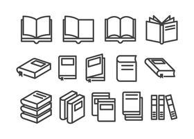 vectores de icono de libro