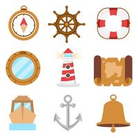 Free Sailing and Nautical Icons Vector