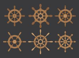 Schiffe Rad Vektor-Icons