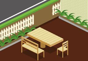 Lawn Chair Isometric Gratis Vector