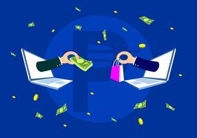 Transactie met Peso Gratis Vector