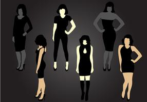 Six Mujer Silhouette