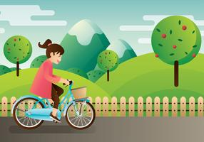 bicicleta kinderen vector
