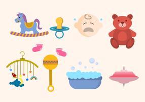 Vecteurs plats à thème bébé