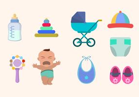 Baby-Illustrations-Vektor-Sammlung