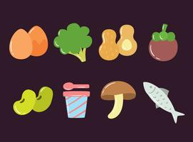 Super Foods-collectie Vector