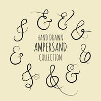 Collection Ampersand dessinés à la main
