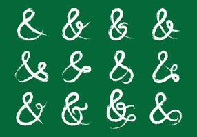 Doodle de ampersand e giz