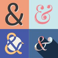 Ampersand with Style Set Vector