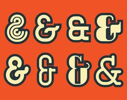 ampersand Vector Set