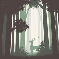 Abstract Forest Landscape vector