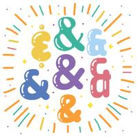 Bubble Ampersand Set Vector