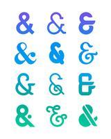 Set Of Ampersand Logo
